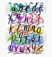 Roarsome Rainbow Dinosaur Alphabet Poster