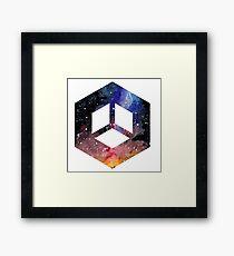 Hexagonal Galaxy Framed Print