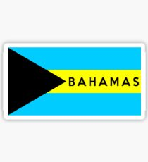 flag of bahamas Sticker