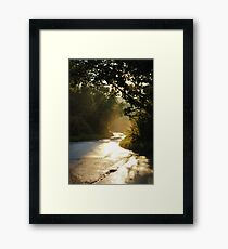 Country Road After The Rain Framed Print