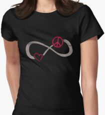 Infinite Love ∞ I Love Peace ∞ Freedom Sign T-Shirt