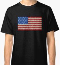 Amerikanische Flagge Fahne USA Patriot Glitzer Classic T-Shirt