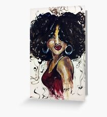 Afro Beauty Greeting Card