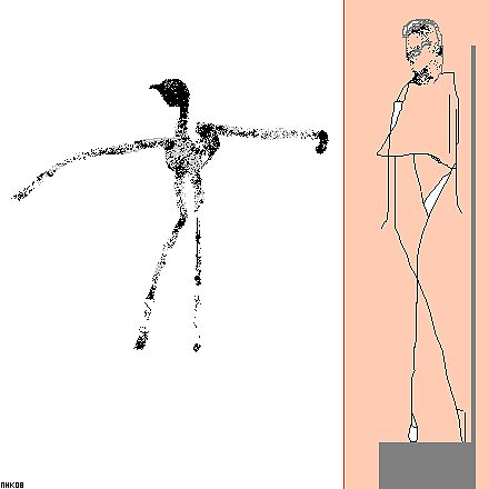 giacometti and the bird 5 by mhkantor