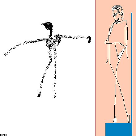 giacometti and the bird 7 by mhkantor
