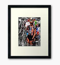 Beautiful Italian Cyclist Framed Print
