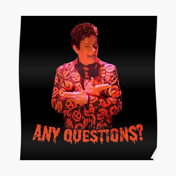 David S. Pumpkins - Any Questions? VI Poster
