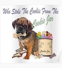 Puggle Stole Cookie Jar Poster