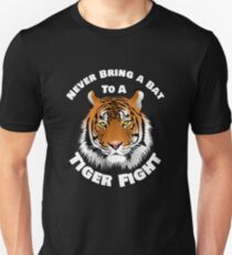 Beautiful Tiger Never Bring a Bat To A Tiger Fight Zombie Lovers Shirt T-Shirt