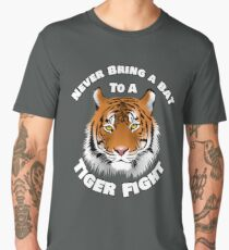 Beautiful Tiger Never Bring a Bat To A Tiger Fight Zombie Lovers Shirt Men's Premium T-Shirt