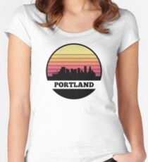 Portland Skyline Women's Fitted Scoop T-Shirt