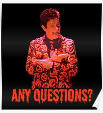David S. Pumpkins - Any Questions? II - Black Poster