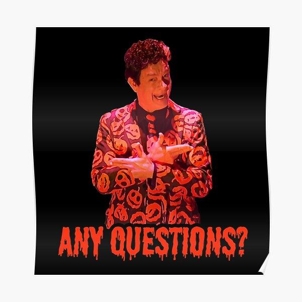 David S. Pumpkins - Any Questions? II - Black Poster