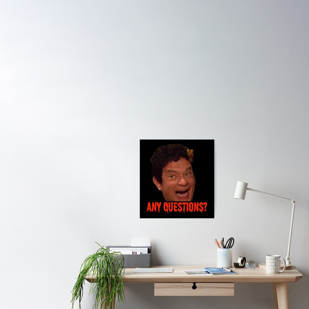 David S. Pumpkins - Any Questions? III - Black Poster