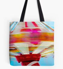 Spinning Fair Ground ride, blurred in motion Tote Bag
