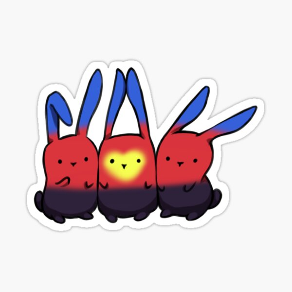 Poly-Pride Bunnies Sticker