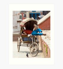 Rickshaw Art Print