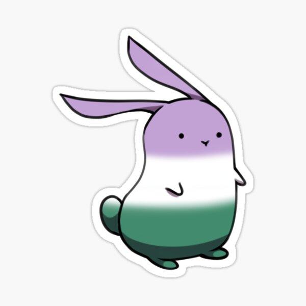 Genderqueer-Pride Bunny Sticker