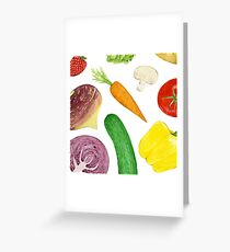 Watercolour vegetables Greeting Card
