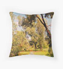 Woodlands walk trail Throw Pillow