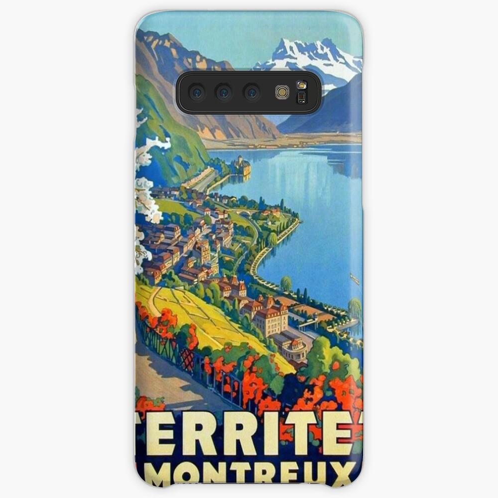 Weinleseplakat - Territet Montreaux Hülle & Klebefolie für Samsung Galaxy