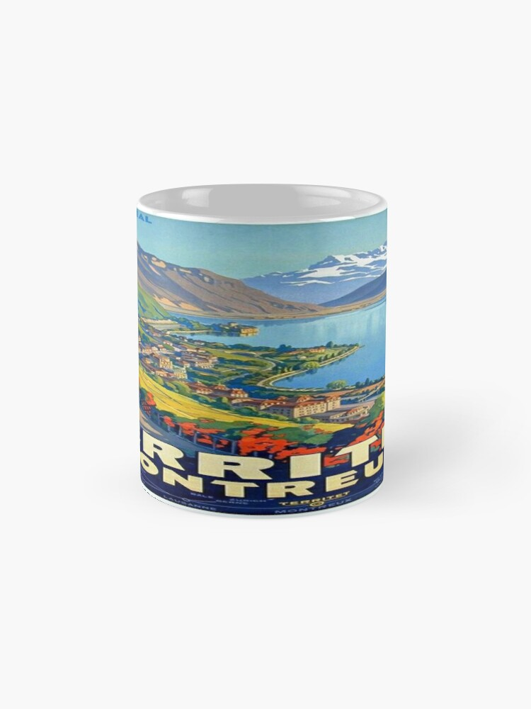 Alternative Ansicht von Weinleseplakat - Territet Montreaux Tasse