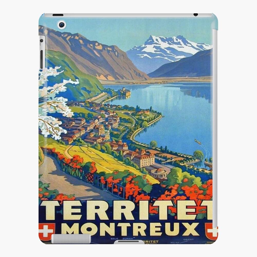 Weinleseplakat - Territet Montreaux iPad-Hülle & Skin