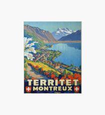 Lámina de exposición Cartel vintage - Territet Montreaux