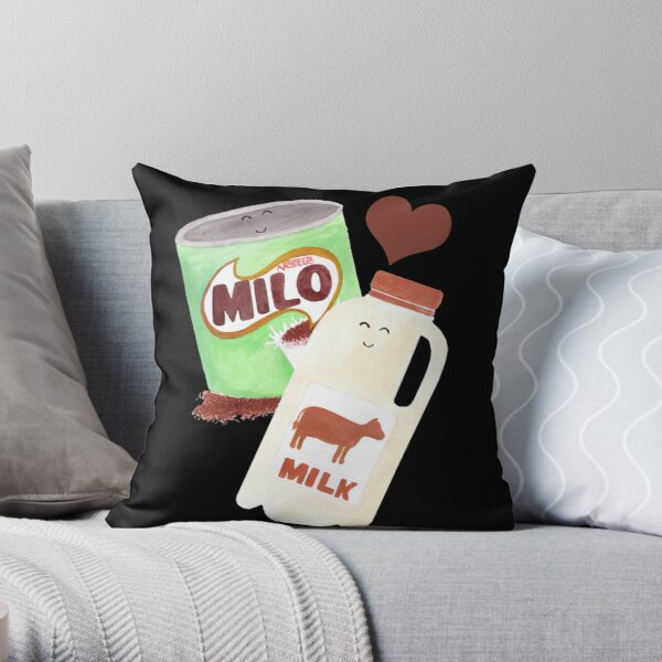 Best Friends: Milo & Milk Throw Pillow