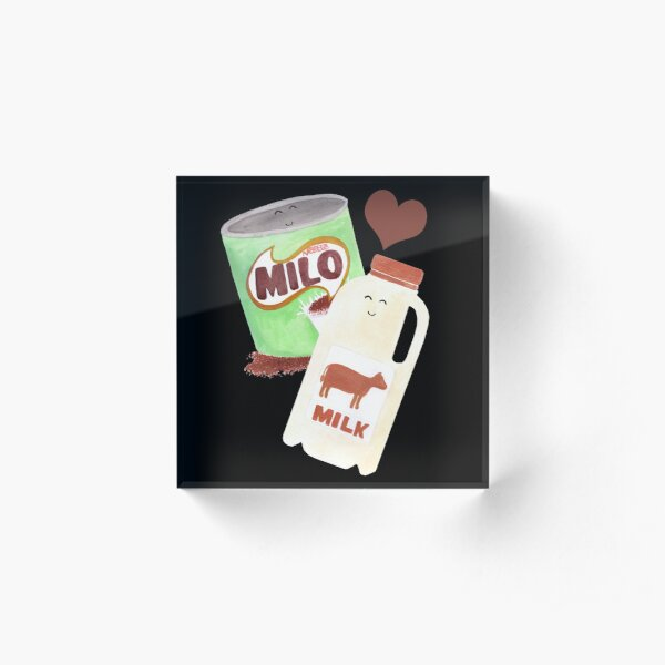 Best Friends: Milo & Milk Acrylic Block