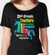 Third Grade Teachers Unicorn Shirt 3d Grade Fabulous Magical Unicorn Women's Relaxed Fit T-Shirt