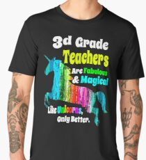 Third Grade Teachers Unicorn Shirt 3d Grade Fabulous Magical Unicorn Men's Premium T-Shirt