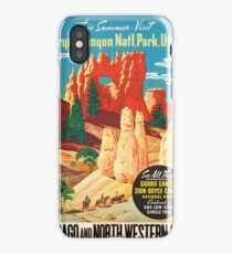 Vintage poster - Bryce Canyon iPhone Case/Skin