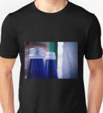 Gray stopper bottle of sparkling water blue glass T-Shirt