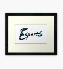 Esports Graffiti - [Black / Blue] Framed Print