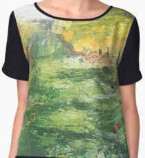 Apple Orchard Painting Women's Chiffon Top