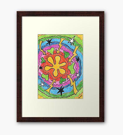 2403 - Flowers, Stars and Lightning Gerahmtes Wandbild