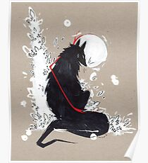 BLACK WOLF RIBBONS Poster