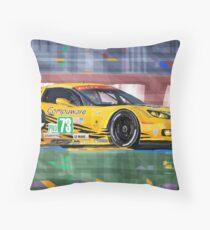 Chevrolet Corvette C6R GTE Pro Le Mans 24 2012 Throw Pillow