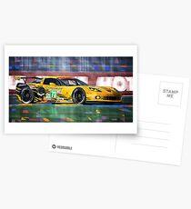Chevrolet Corvette C6R GTE Pro Le Mans 24 2012 Postcards