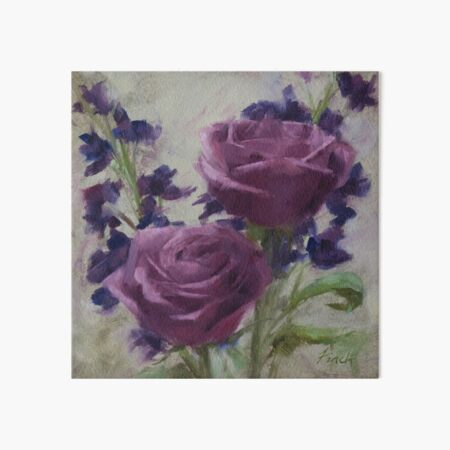 Redeemed • Floral Painting by Rebecca Finch Art Board Print