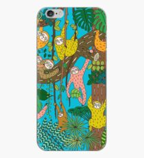 Happy Sloths Jungle  iPhone Case