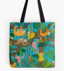 Happy Sloths Jungle  Tote Bag