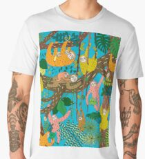 Happy Sloths Jungle  Men's Premium T-Shirt