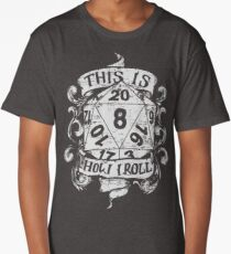This Is How I Roll Hand Drawn White Long T-Shirt