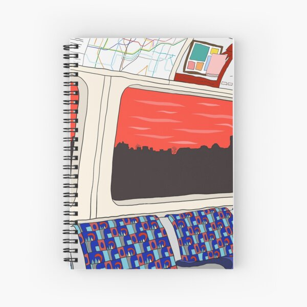 View from London Jubilee Line Spiral Notebook