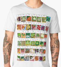 Vegetable seeds pattern Men's Premium T-Shirt