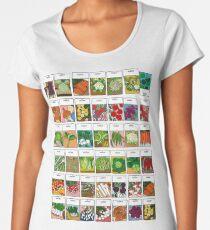Vegetable seeds pattern Women's Premium T-Shirt