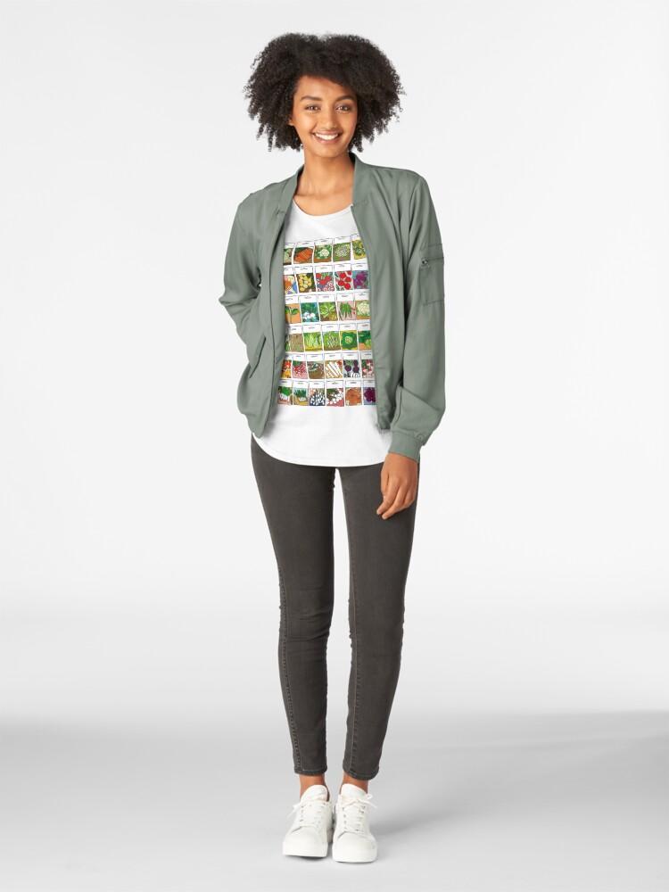 Alternate view of Vegetable seeds pattern Premium Scoop T-Shirt