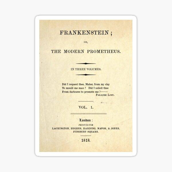 Frankenstein Title Page Sticker